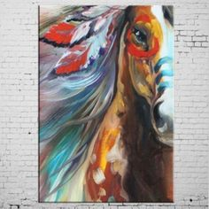Horse-Oil-Painting-on-Canvas-Hand-Painted-Animal-Wall-Art-Home-Decor-24X36inch