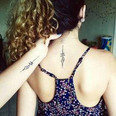 Mother daughter tattoos design ideas 14