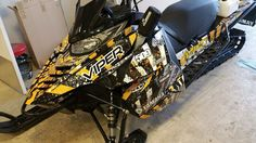 Sled wrap design I did on a 2016 Yamaha Viper. Printed and installed at Markit Signs