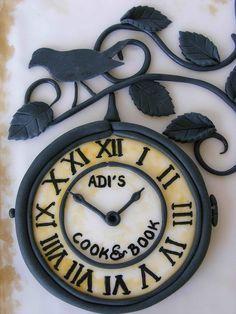 Adi's Cook Cake by bubolinkata, via Flickr - that is one impressive fondant clock.