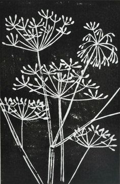 Seed heads linocut Collagraph, Linoprint, Sgraffito, Pottery Painting, Encaustic Painting, Linocut Prints, Art Plastique, Oeuvre D'art, Printmaking
