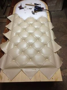 Creative And Inexpensive Tips: Upholstery Headboard Tutorials upholstery ideas apartment therapy.Upholstery Stain Remover How To Get. Reupholster Furniture, Upholstered Furniture, Furniture Makeover, Diy Furniture, Playroom Furniture, Furniture Making, Furniture Design, Formation Couture, Diy Case