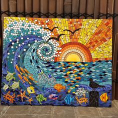 Julie AldridgeYou can find Mosaic tiles and more on our website. Mosaic Tile Art, Mosaic Artwork, Mosaic Diy, Mosaic Crafts, Mosaic Glass, Glass Art, Stained Glass, Mosaic Designs, Mosaic Patterns