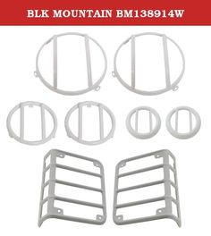 BLK MOUNTAIN BM138914W. This item is designed to fit specific vehicles. Please ensure correct part fitment before purchasing this project. Contact the seller directly for additional product information and availability.JK WHITE EURO GUARD SET.