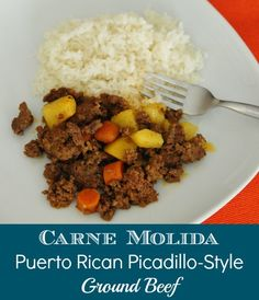 Carne Molida: Recipe for Puerto Rican Ground Beef on modernmami.com #dinner #recipes #PuertoRican