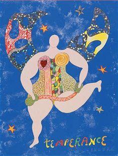 Niki de Saint Phalle - Temperance Henri Fantin Latour, Georges Braque, Francoise Gilot, Jean Tinguely, French Sculptor, Tarot Major Arcana, Sculpture, Tarot Decks, Artist Art