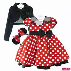 Disfraz Minnie Mouse, Minnie Dress, Mickey Birthday, Trendy Outfits, Dress Outfits, Little Girls, Costumes, Summer Dresses, Kids
