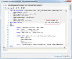 Transparent decryption - Seamlessly work with encrypted objects  #SQLServer #VisualStudio