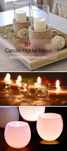Light up your home with these candle holder ideas! Check out Chez Thrift and the ReUstore for unique treasures. http://ccs4u.org/the-reustore/