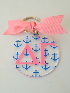 Delta Gamma Sorority Keychain by MyTweetBoutique on Etsy, $9.00