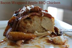 Bacon Wrapped Apple BBQ Chicken Recipe