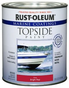 RustOleum 207004 Marine Topside Paint Bright Red 1Quart Color Bright Red Model 207004 Tools  Hardware store >>> You can get more details by clicking on the image.