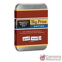 Zestaw magnesów Magnetic Poetry Big Print - CzerwonaMaszyna.pl