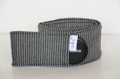 DSLR Camera Strap Cover  Grey Black Stripe Unisex by JoyMadeIt, $20.00