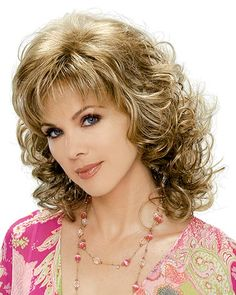 The JESSICA synthetic hair wig by Estetica Designs from Wilshire Wigs is a long curly wig with layered spiral curls that fall to the shoulders. Real Hair Wigs, Human Hair Wigs, Blonde Side Bangs, Curly Blonde, Medium Hair Styles, Curly Hair Styles, Wilshire Wigs, Volume Curls, Spiral Curls