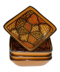 Love this Honey Square Sauce Dish - Set of Four on #zulily! #zulilyfinds