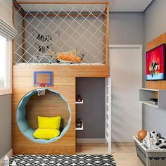 Click in the image to find more kids bedroom inspirations with Circu Magical Fur. Click in the image to find more kids bedroom inspirations with Circu Magical Furniture! Kids Bedroom Designs, Kids Room Design, Home Design, Nursery Design, Interior Design, Small Room Design, Playroom Design, Wall Design, Modern Interior