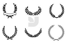 Wreaths - Laurel wreaths have been a well known symbol of victory and glory throughout history. Life Tattoos, Body Art Tattoos, Sleeve Tattoos, Laurel Wreath Tattoo, Laurel Tattoo, Victory Tattoo, Leg Tattoos Small, Flower Drawing Tutorials, Maori Tattoo Designs