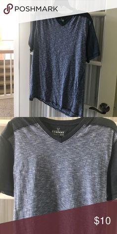 Men's v neck t shirt Men's blue v neck t shirt. Size XXL fit like L company Eighty One Shirts Tees - Short Sleeve