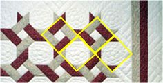 The magnificent snowball quilt called Around the Twist -- Look at the construction -- 9-patch block and snowball block!