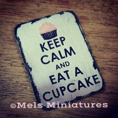 Dollhouse Miniature  Wooden Cupcake Bakery Sign  1:12 by MelsMinis