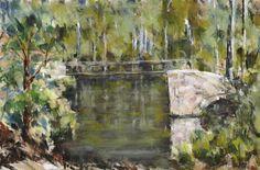 Bridge - After Cezanne - Pastel