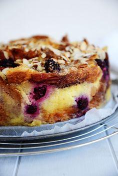 Apple & Blackberry Custard Croissant Cake From The Kitchen