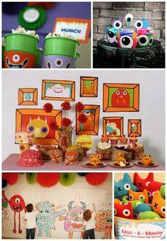 Decoração Festa Infantil Monstros Monster Kids Party Decor