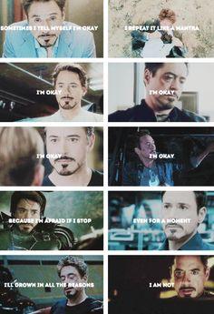 Tony Stark - he's not OK, really