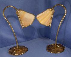 Pair of Modern Reproduction Art Nouveau Table Lamps