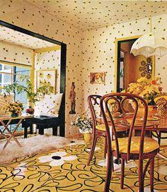 interior Home Decor, Typical conventional. Looks like my girlfriends parents house. 1970s Decor, 70s Home Decor, Home Decor Bedroom, Cheap Home Decor, Vintage Decor, Vintage Interior Design, Vintage Interiors, Retro Design, Design Design