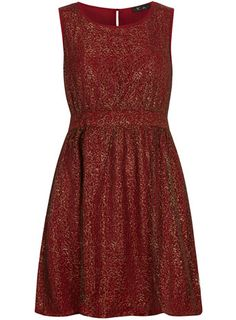Red gold lace dress, buy one, get one 50% off
