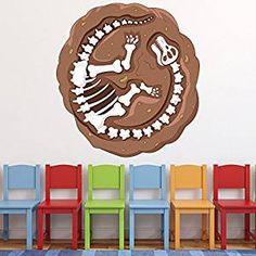 Fancy Stickerkoenig Wandtattoo D Sticker Wandsticker Kinderzimmer niedliche Dinosaurier Dinos II Rex Deko auch f r Fenster Schr nke T ren etc u