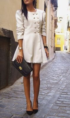 Coat! Perfect length- roaming the streets of Paris in this. #class #perfection