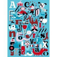 Pour apprendre à son alphabet et la langue anglaise en décorant joliment les murs, voici un abécédaire réalisé par Ingela P Arrhénius, graphiste suédoise talentueuse inspirée par les fifties !      Dimensions 50 x 70 cm. 22,00 € http://www.lafolleadresse.com/affiches/196-abécédaire-d-ingela-p-arrhénius.html