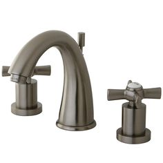 Kingston Brass KS2968ZX Millennium Satin Nickel  Two Handle Widespread Bathroom Faucets |eFaucets.com