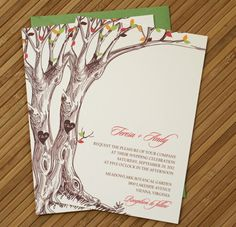Rustic Autumn Tree Wedding Invitation with by TaylorsPaperie, $3.25