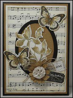King's on Paddington: Shabby Butterflies :)) Butterfly Cards, Flower Cards, Butterfly Template, Butterfly Dragon, Monarch Butterfly, Handmade Birthday Cards, Greeting Cards Handmade, Musical Cards, Penny Black