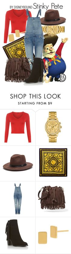 """Stinky Pete"" by leslieakay ❤ liked on Polyvore featuring WearAll, Lacoste, Versace, Levi's, Rebecca Minkoff, Miss Selfridge, Diane Von Furstenberg, Kate Spade, disney and disneybound"