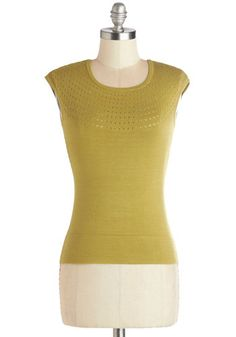 Garden Grove Sweater by Effie's Heart - Knit, Yellow, Solid, Casual, Better, Yellow, Short Sleeve, Cap Sleeves
