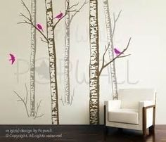 Image detail for -Birch Tree Decal, More Realistic, Reusable, White Birch Tree Wall ...