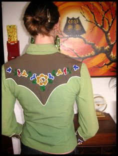 Vintage western shirt, back view