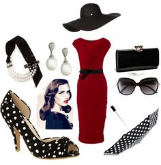 1950s, created by avemaria33 on Polyvore