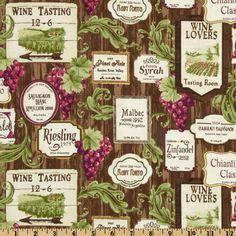 Rustic Vineyard Wine Labels Brown