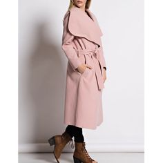 """Tribute"" Belted Wide Collar Coat Dusty pink wide collared belted coat. Only available in this color. Brand new. True to size. NO TRADES. PRICE FIRM. Bare Anthology Jackets & Coats"