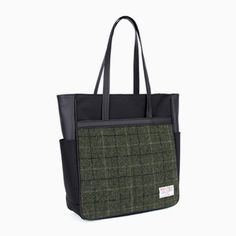 Sweetch tote brief kahki x Harris tweed