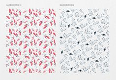 Denim Flowers by Webvilla on @creativemarket
