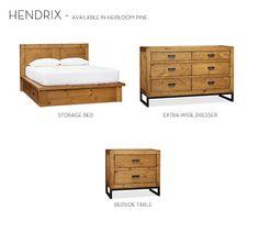 Hendrix Storage Bed & Dresser Set | Pottery Barn