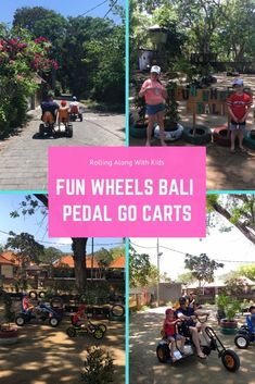 A fun activity in Bali with kids, Fun Wheels Bali is in a range of locations across Bali. The pedal go carts are lots of fun for the whole family. Bali With Kids, Travel With Kids, Bali Family Holidays, Stuff To Do, Things To Do, Cool Kids, Kids Fun, Bali Travel, Fun Activities