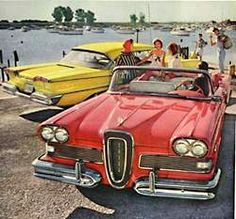 THE EDSEL  A good idea...that didn't sell.      Introduced in the fall of '57 for the '58 season.